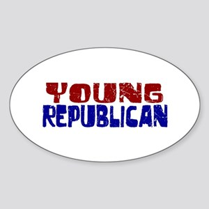 Young Republican Oval Sticker